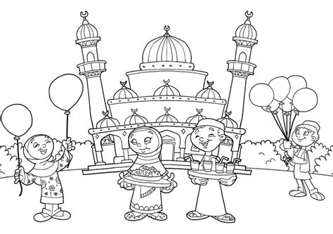 wallpaper masjid hitam putih 25 gambar kartun masjid terlengkap terbaru gambar mania