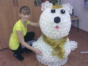 lovely Items Made From Best Out Of Waste #3: waste-paper-cup-bear-toy-for-school-projects-for-children.jpg