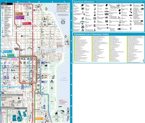 chicago map of the loop chicago loop hotels and tourist attractions map