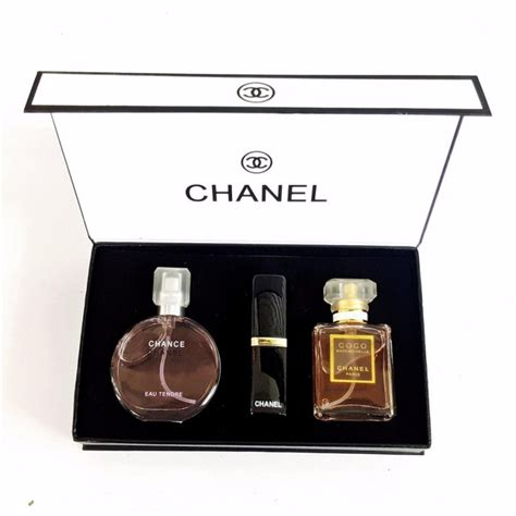 Set Chanel chanel gift set 3 in 1 with chance chanel 15ml perfume