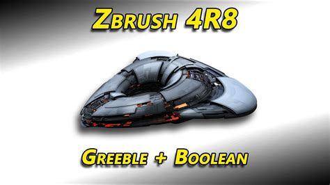 Zbrush Boolean Tutorial | zbrush 4r8 greeble boolean youtube
