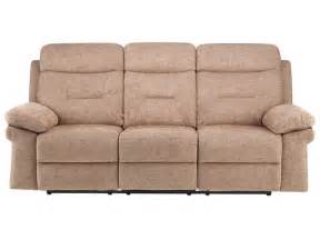 maison large sofa with 2 manual recliners biscuit