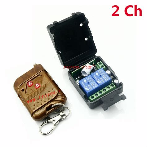 remote control l switch dc 12v 10a relay 2ch wireless rf remote control switch