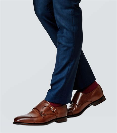 dress shoes from loake cannon monkstrap brown shoes