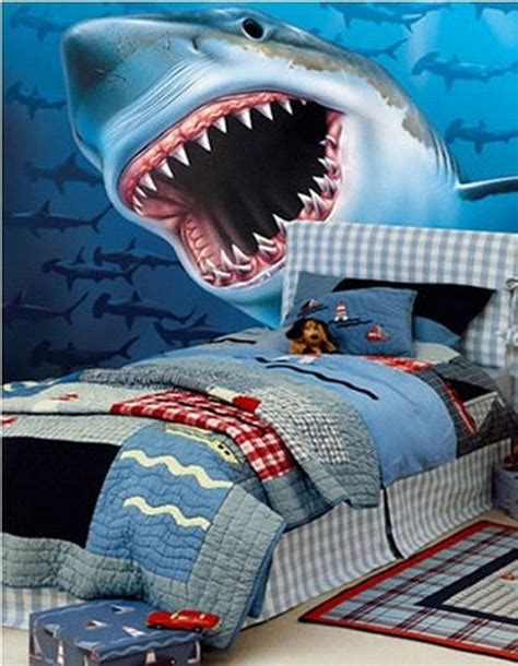 shark bed blue inspirations images bedrooms chil on shark decor for