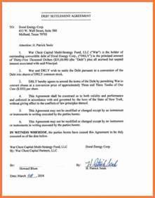 Loan Settlement Agreement by 5 Debt Settlement Agreement Marital Settlements Information