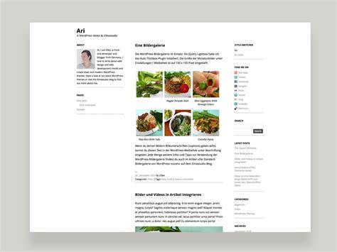 blogger themes kostenlos ari wordpress theme elmastudio