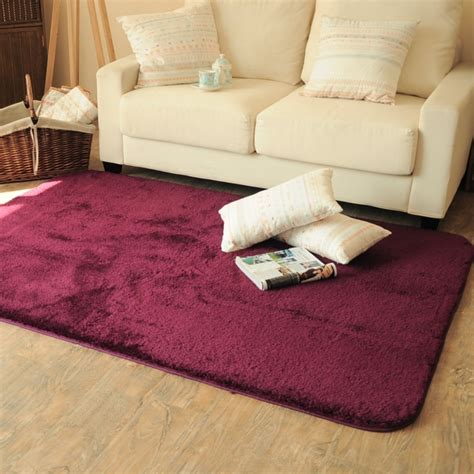 Rectangle Soft Fluffy Rug Anti Skid Shaggy Study Room Fluffy Rugs For Bedroom