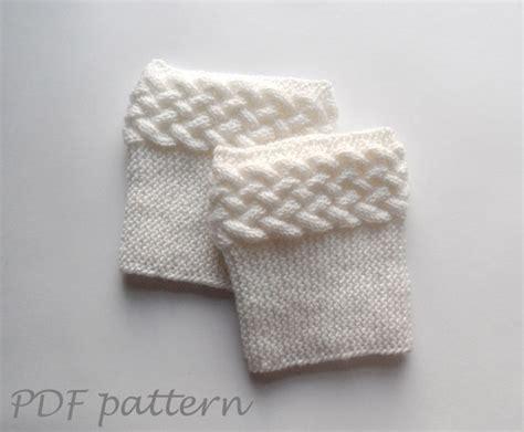 knit boot cuff pattern knitting pattern cable boot cuffs on luulla