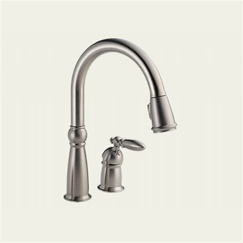 delta stainless steel kitchen faucet delta faucet 955 ss dst one handle pull out