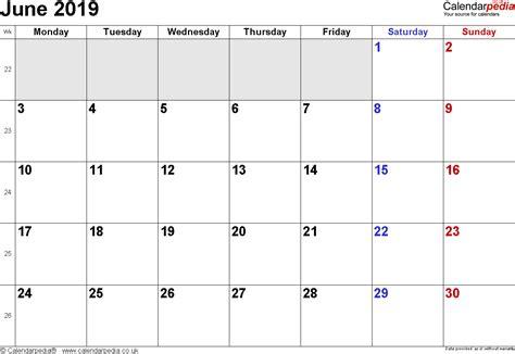 calendar june  uk bank holidays excelpdfword templates
