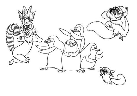 king julien the of lemur in madagaskar coloring page