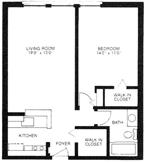 600sft floor plan one bed one bath 600 sq ft home floor plans