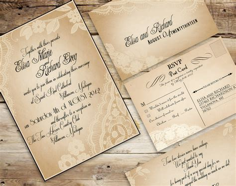 top album of vintage wedding invitation templates