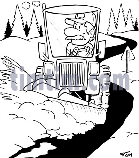 coloring page of tractor and snow plow snowplow coloring pages