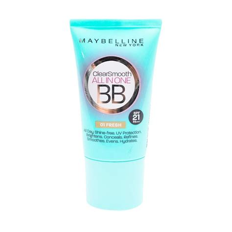 Harga Clear Smooth Bb Maybelline jual maybelline clear smooth bb 01 fresh