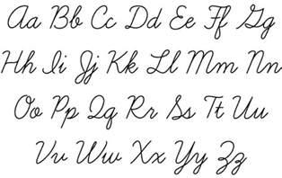 cursive script handwriting writing