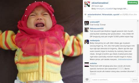 Jilbab Anak Baby Maryam alasan oki setiana dewi jilbabi baby maryam yang baru 2 bulan