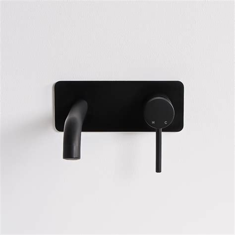 Wall Mounted Bath Taps With Shower lusso luxe series wall mounted basin mixer tap matte black