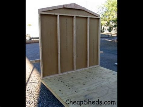 build gable  walls   garden storage shed
