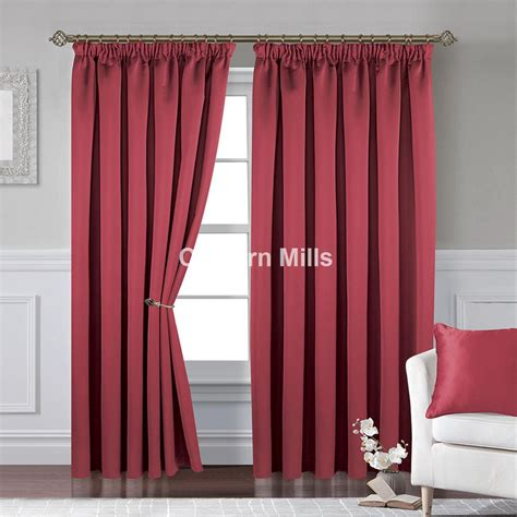 red pencil pleat curtains textured satin red pencil pleat curtains chiltern mills