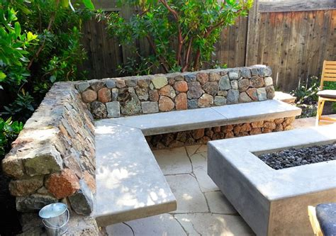 custom concrete benches custom concrete fire table and benches