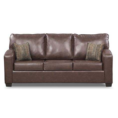 american signature sleeper sofa brookline queen innerspring sleeper sofa brown
