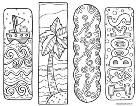 printable doodle bookmarks pics for gt bookmarks to print and color