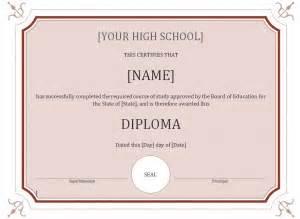 diploma template word high school diploma template word templates