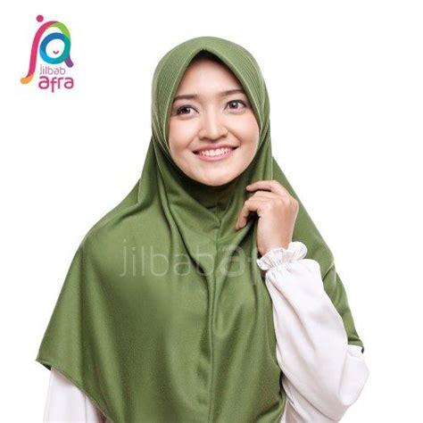 Jilbab Afra Model Amira Size L beria hijau army jilbab afra