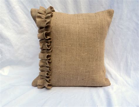 burlap pillows choose your size burlap pillow covers with ruffles