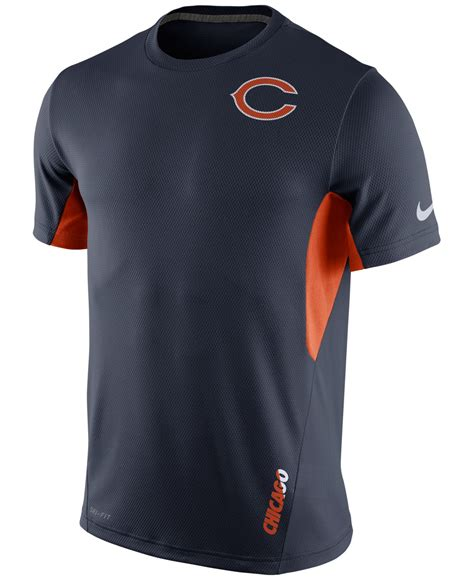 Sweater Club Vapor Clothing lyst nike s chicago bears vapor t shirt in blue for