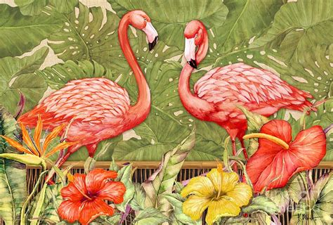 flamingo wallpaper nyc tropical flamingo painting by paul brent