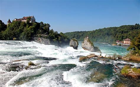 boat ride rhine falls switzerland the 25 most awe inspiring waterfalls on earth travel