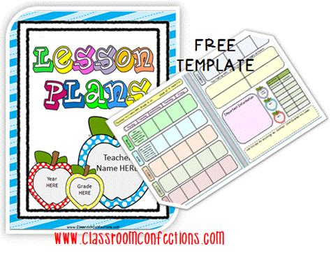 free editable lesson plan template printable file folder other classroom
