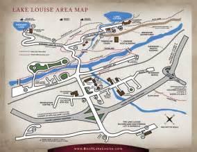 lake louise canada map lake louise banff map