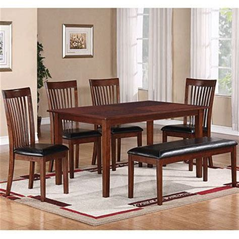 6 dining set with slat back chairs