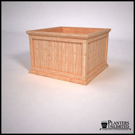 Square Wooden Planters by Commercial Square Planters Cedar Wood Planters Planters