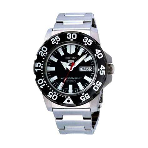 Jam Tangan Automatic Pria jual seiko 5 automatic snzf51 silver hitam jam tangan pria harga kualitas terjamin