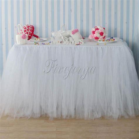 Diy Tutu Table Skirt Decor by Handmade White Color Tulle Tutu Table Skirt 100cm X 80cm