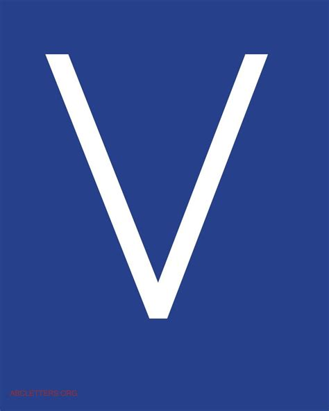the gallery for gt letter v in blue