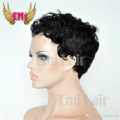pixie wigs for women cheap short human hair wig tight curly pixie cut wigs