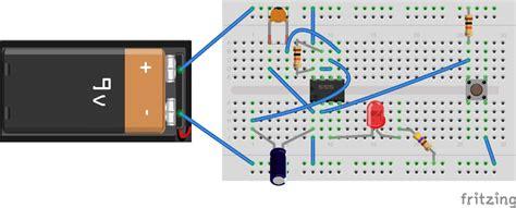 breadboard circuit for 555 timer 555 timer basics monostable mode