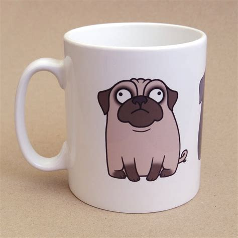 mug pug pug mug by pugsnkissesuk on etsy