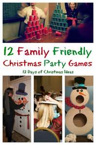 Free Family Christmas Party Games - 12 days of christmas 12 family friendly party games my pinterventures