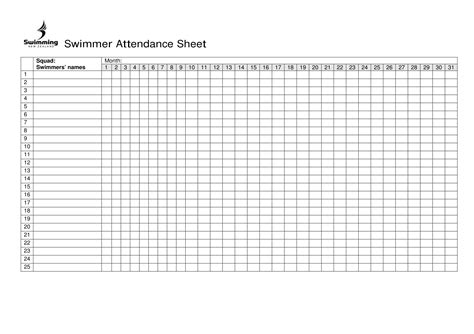 daily attendance sheet for excel