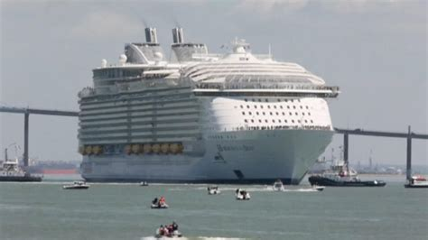 largest cruise ship world s largest cruise ship sets sail from france nbc