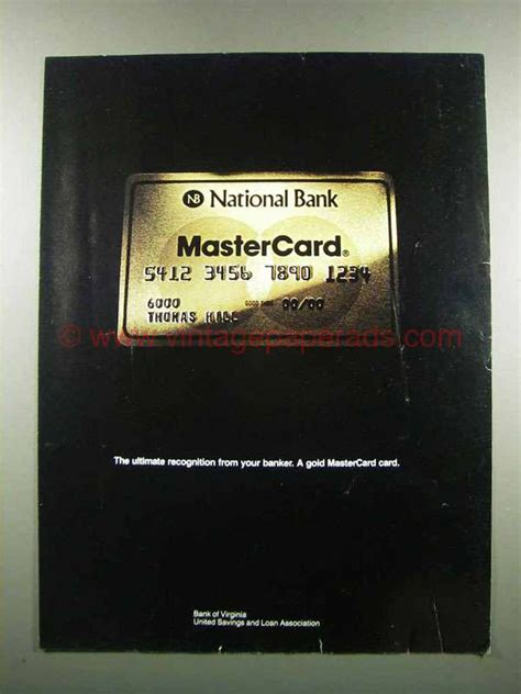 master card national bank 1983 national bank mastercard ad ultimate recognition