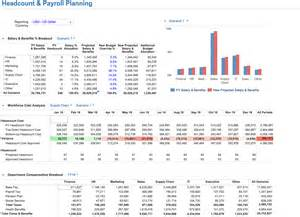 workforce plan template exle headcount and payroll planning solution