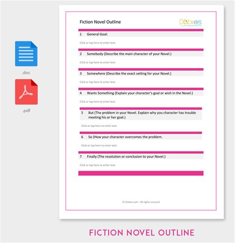 Fiction Novel Outline Template Outline Templates Create A Perfect Outline Pinterest Process Book Template
